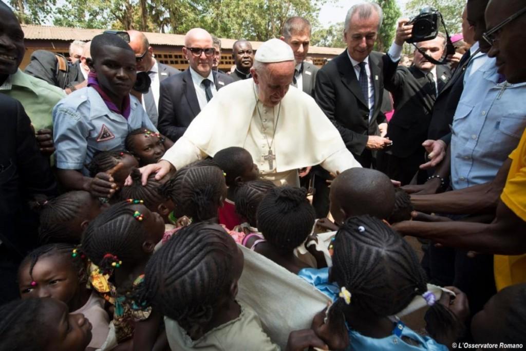 Papa Francesco a Bangui