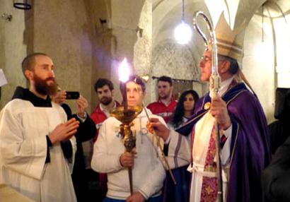 Accensione fiaccola San Benedetto