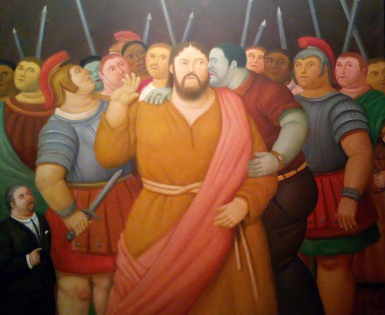 """""""Il bacio di Giuda"""" Fernando Botero 2011"""