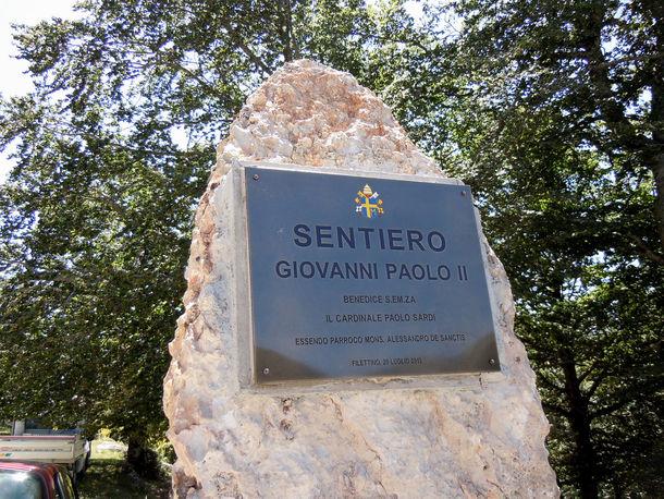 Sentiero Giovanni Paolo II a Filettino (FR)