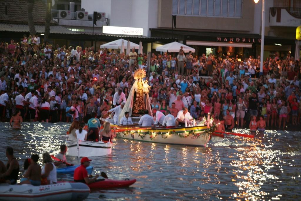 Malaga- festeggiamenti per la Madonna del Carmen