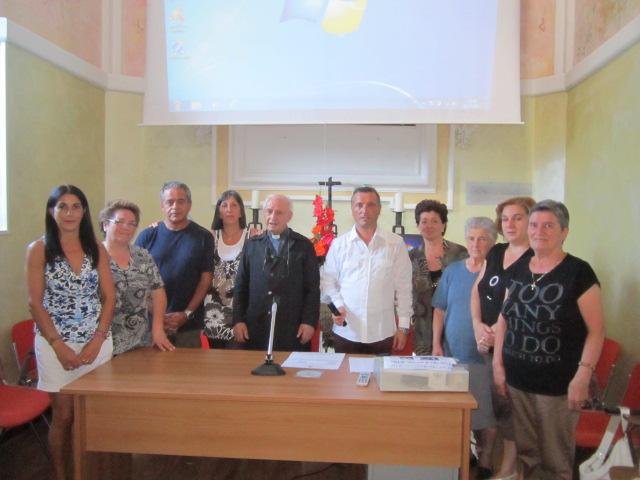 Don Alessandro con il Consiglio Pastorale Parrocchiale di Filettino