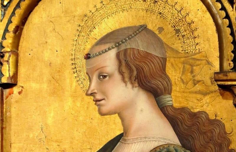 Maria Maddalena, Carlo Crivelli : dettaglio