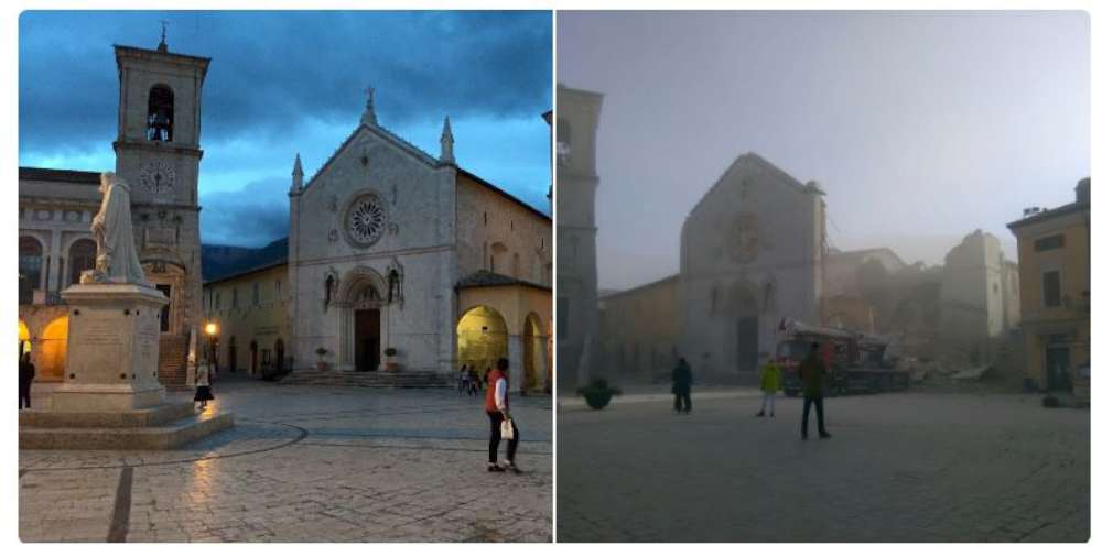 30 ottobre 2016: crolla la Basilica San Benedetto a Norcia
