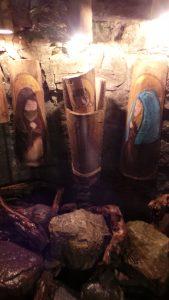 Bazzano, il paese dei presepi_presepe realizzato con tegole